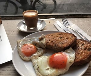 bread, breakfast, and drink image