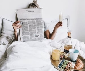 breakfast, books, and coffee image