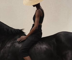 fashion, horse, and photography image