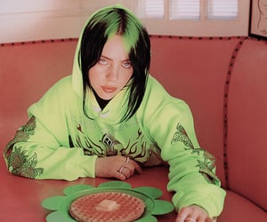 billie eilish and green image