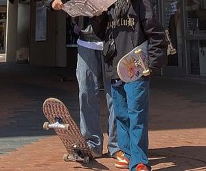 skateboard, aesthetic, and skater image