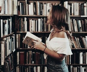books, library, and style image