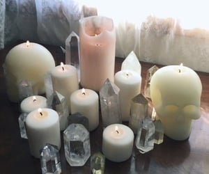 aesthetic, candles, and witch image