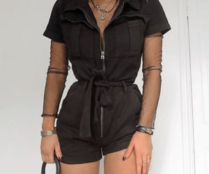 black, outfit, and cute image