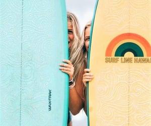 blonde, summer, and surf image