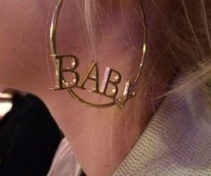 baby, ear, and earring image