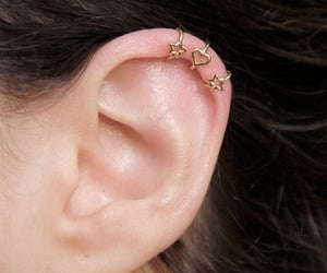 ear, ear cuff, and gold image