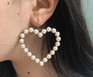 ear, earring, and heart image