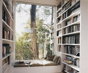 books, home, and trees image