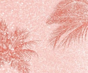 aesthetic, palm trees, and rose gold image