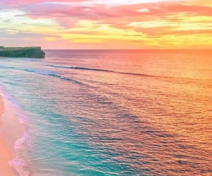 beach, ocean, and colors image