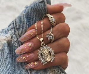 nails, stars, and gold image