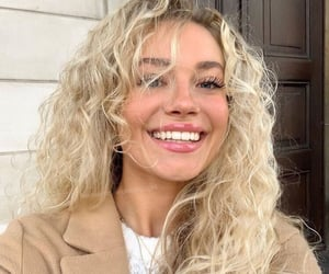 beauty, blonde hair, and curly hair image