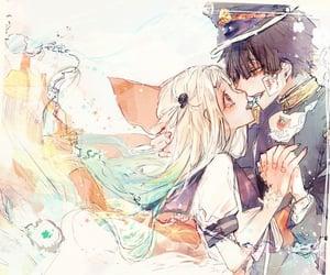 water, anime couple, and hanako-kun image