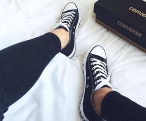 all star, black converse, and life image