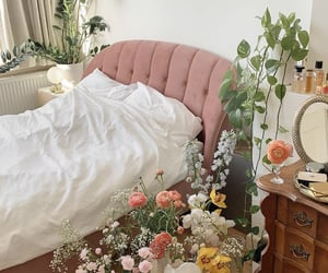 bedroom, florals, and flowers image