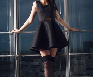 black, stockings, and dresses image