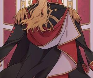anime, blonde hair, and webtoon image