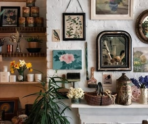 art, flowers, and interior image