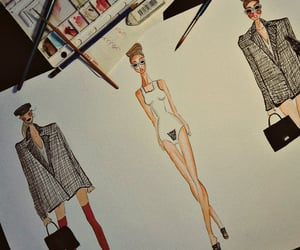 aesthetics, drawings, and fashion image