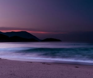 beach, landscape, and night image