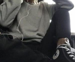 aesthetic, headphones, and grey color image