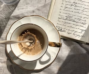 coffee, book, and aesthetic image