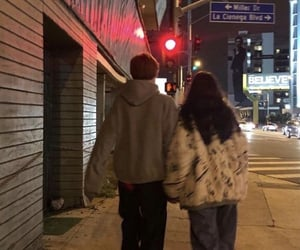 couple, alternative, and night image