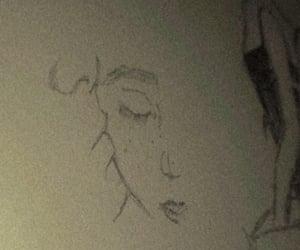 drawing, kiss, and pencil image