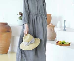 cocktail dress, etsy, and linen long dress image