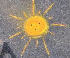 aesthetic, sun, and yellow image
