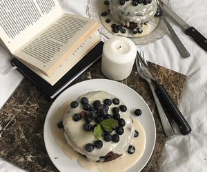 food, book, and cake image