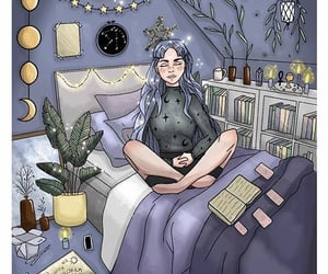 art, witchy, and illustration image