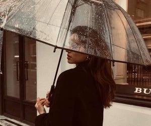 beauty, rain, and girl image