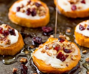 food, honey, and sweet potato image