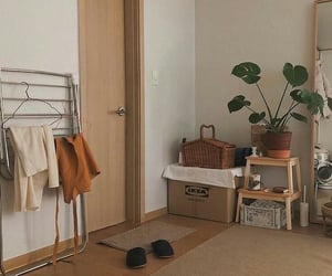 bedroom, minimalist, and plants image