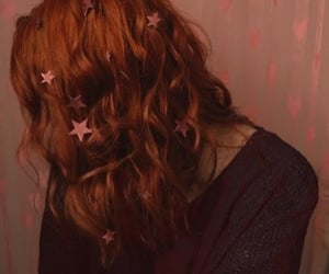 stars, girl, and hair image
