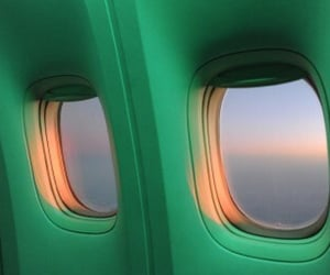aesthetic, green, and airplane image