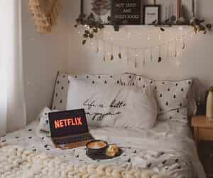 netflix, bedroom, and home image