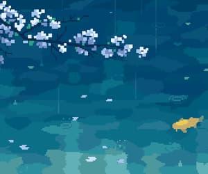anime, gif, and rain image