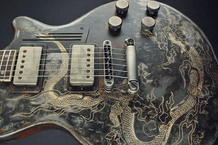guitar, aesthetic, and dragon image