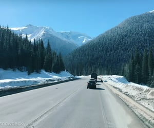 canada, mountains, and road image