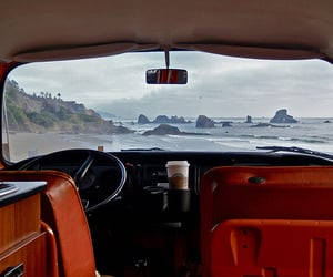 car, beach, and photography image