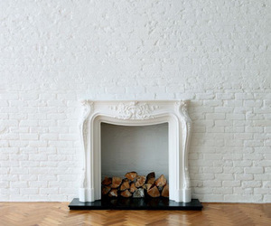 fireplace and white image