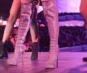 boots, glitter, and ariana grande image