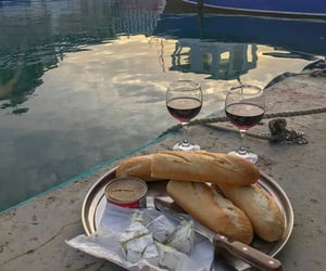 artisan, wine, and bread image