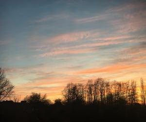 beautiful, orange, and sunrise image
