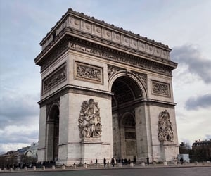 arc de triomphe, architecture, and art image