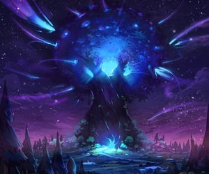 artwork, magic, and tree image