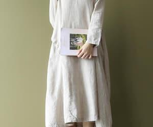 etsy, midi dress, and linen long dress image